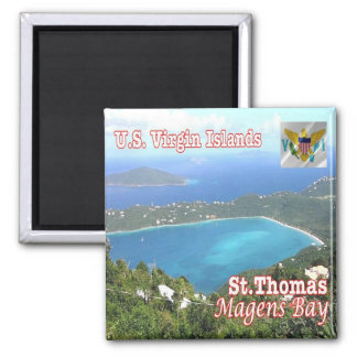 VI - Virgin Islands - Magens Bay  St. Thomas 2 Inch Square Magnet