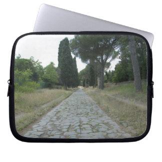 Via Appia  Appian way, roman roadway Computer Sleeve