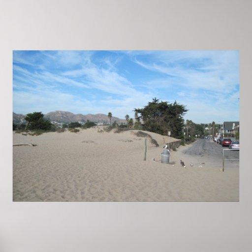 Vía de acceso de la playa de estado de Ventura Póster