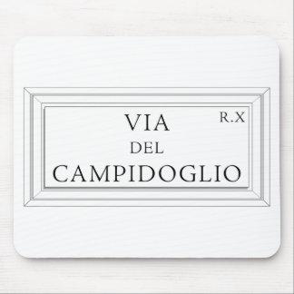 Via del Campidoglio, Rome Street Sign Mouse Pad