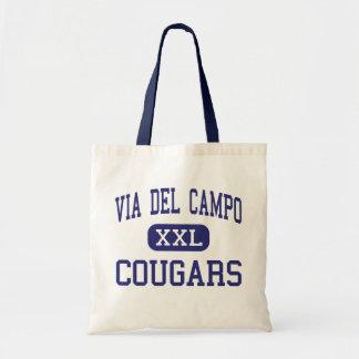 Via Del Campo - Cougars - Continuation - Fair Oaks Tote Bag