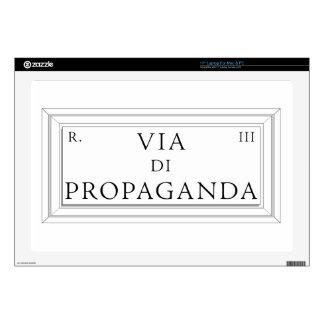 "Via di Propaganda, Rome Street Sign Skins For 17"" Laptops"