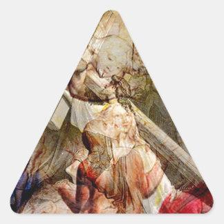 VÍA DOLOROSA.jpg Pegatina Triangular