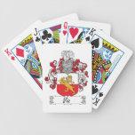 Vía el escudo de la familia baraja de cartas
