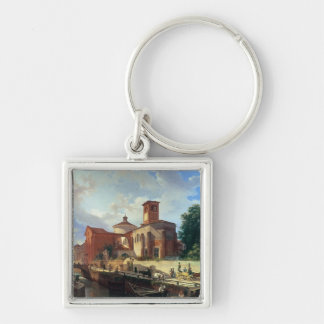Via Fatabene Fratelli, Milan, 1830 Key Chain