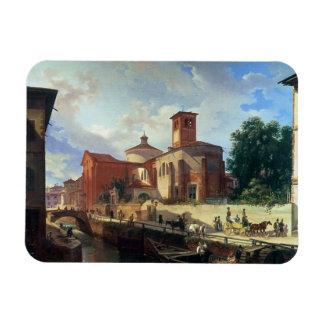 Vía Fatabene Fratelli, Milano, 1830 Imán Rectangular