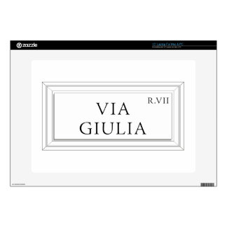 Via Giulia, Rome Street Sign Decals For Laptops