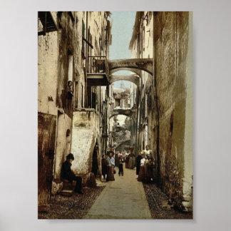Via Guioco della Palla, San Remo, Riviera classic Poster