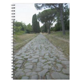 Vía la manera de Appia Appian, camino romano Libretas