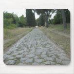 Vía la manera de Appia Appian, camino romano Tapete De Ratón