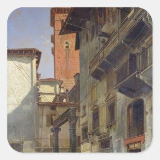 Vía Mazzanti, Verona, 1880 Colcomania Cuadrada
