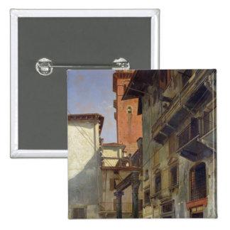 Vía Mazzanti, Verona, 1880 Pin Cuadrada 5 Cm