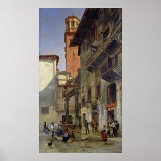 Via Mazzanti, Verona, 1880 Poster