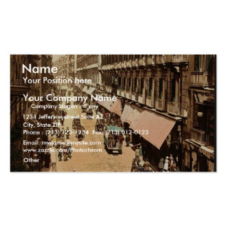 Via Roma, Naples, Italy classic Photochrom Double-Sided Standard Business Cards (Pack Of 100)