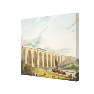 Viaduct across the Sankey Valley, plate 4 from 'Li Canvas Print