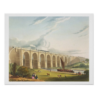 Viaduct across the Sankey Valley, plate 4 from 'Li Poster
