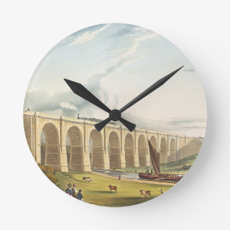 Viaduct across the Sankey Valley, plate 4 from 'Li Round Clock