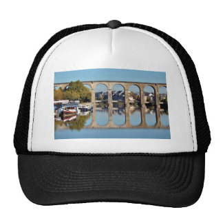 Viaduct on river Mayenne at Laval in France Trucker Hat