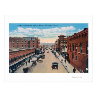 Viaduct View of East Center Street Postcard