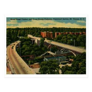 Viaducto amplio del St., vintage del Monte Vernon  Tarjeta Postal