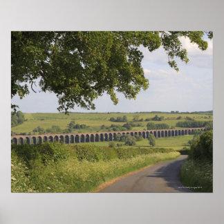 Viaducto de Harringworth, Rutland.  También conoci Impresiones