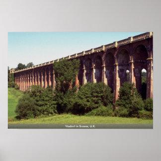 Viaducto en Sussex, Reino Unido Poster