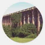 Viaducto en Sussex, Reino Unido Pegatina Redonda