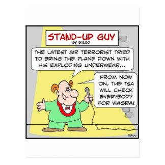 viagra terrorism air travel underwear explosive postcard