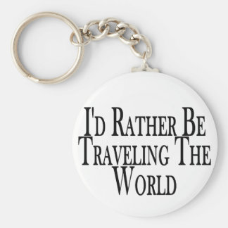 Viaja bastante el mundo llaveros personalizados