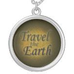 Viaja el mapa de la tierra joyerias personalizadas