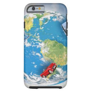 Viaja el mundo funda resistente iPhone 6
