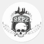 viajante-logotipo-hola-res pegatinas redondas