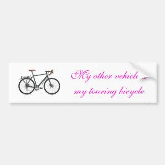 Viajar a la bici pegatina para auto