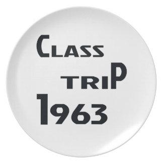 Viaje 1963 de la clase plato de cena