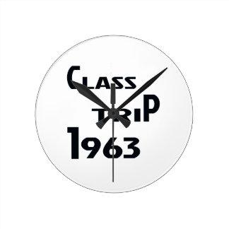 Viaje 1963 de la clase reloj redondo mediano