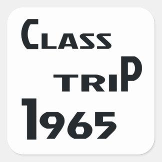 Viaje 1965 de la clase pegatina cuadrada