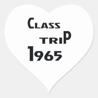 Viaje 1965 de la clase pegatina en forma de corazón