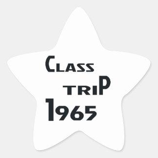Viaje 1965 de la clase pegatina en forma de estrella