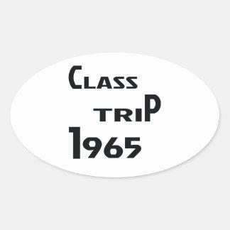 Viaje 1965 de la clase pegatina ovalada