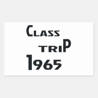 Viaje 1965 de la clase pegatina rectangular