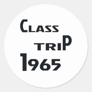 Viaje 1965 de la clase pegatina redonda