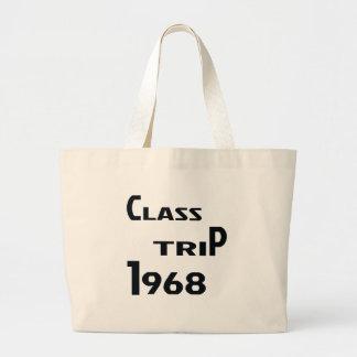 Viaje 1968 de la clase bolsa tela grande