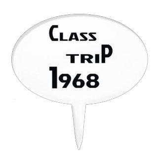 Viaje 1968 de la clase decoración para tarta