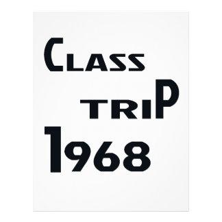 Viaje 1968 de la clase membrete a diseño