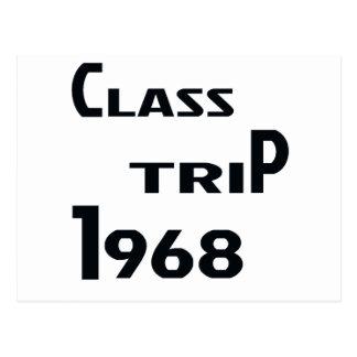 Viaje 1968 de la clase postales