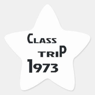 Viaje 1973 de la clase pegatina en forma de estrella