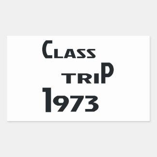 Viaje 1973 de la clase pegatina rectangular