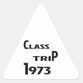 Viaje 1973 de la clase pegatina triangular