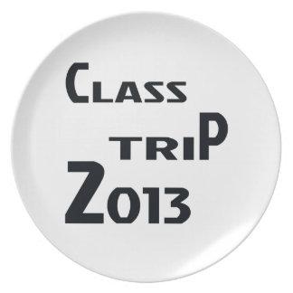 Viaje 2013 de la clase plato para fiesta