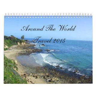 Viaje 2014 en todo el mundo calendarios de pared